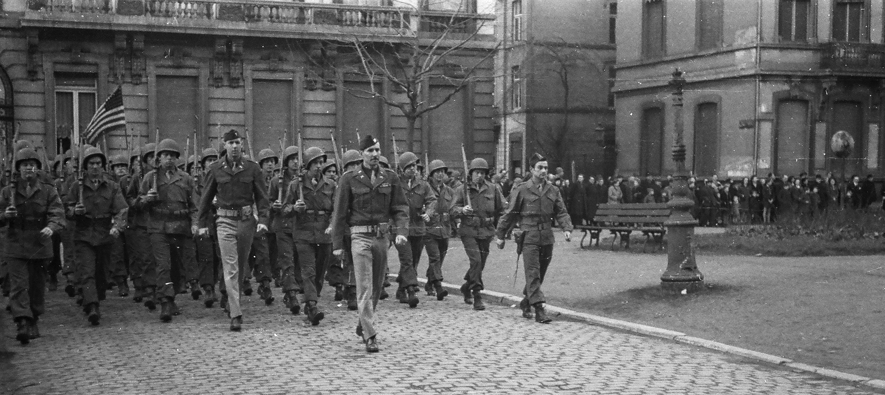 My father leading troops